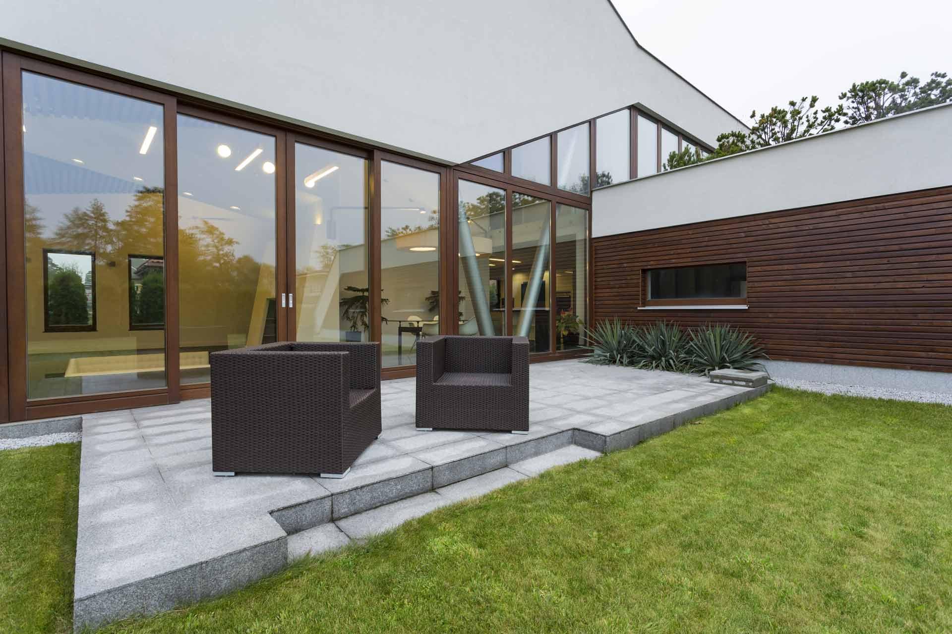 How do you maintain a concrete patio?